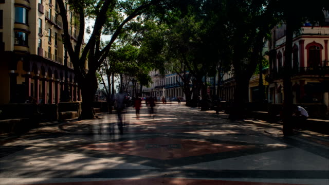 Walking on Paseo del Prado Motion Time Lapse, Havana, Cuba