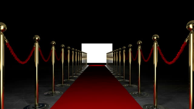 Walking on red carpet
