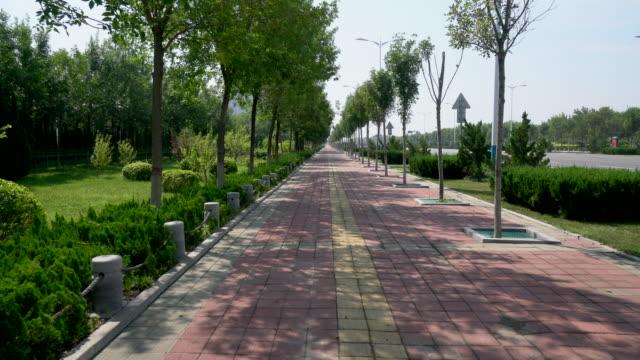walking on sidewalk in the city - 歩道点の映像素材/bロール