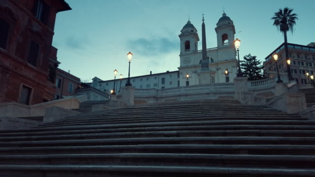 walking on spanish steps, rome, italy - rome italy stock videos & royalty-free footage