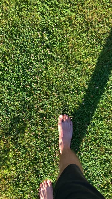 walking on the grass - barefoot stock videos & royalty-free footage