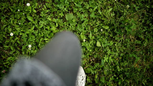 walking on the grass - shoe stock videos & royalty-free footage