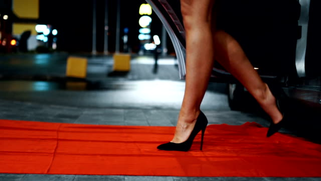 walking on the red carpet - human leg stock videos & royalty-free footage