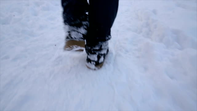 walking on the snow,close up - frozen stock videos & royalty-free footage