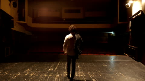 walking on the theater stage - actor stock videos & royalty-free footage