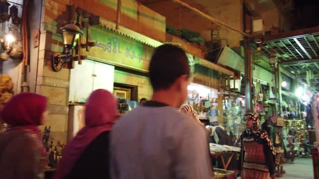 walking on the traditional bazaar in luxor, egypt - tradition stock videos & royalty-free footage