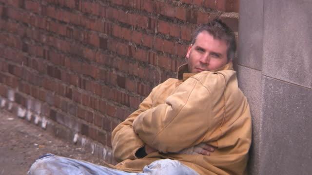 Walking past homeless man, pov