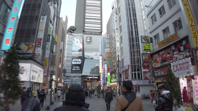 4k ,ws ,pov ,walking point of view. kabuki-icho district in tokyo, japan. - walkable city stock videos & royalty-free footage