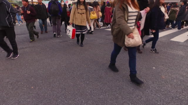 pov,walking shibuya crossing in tokyo. - 手持ち撮影点の映像素材/bロール