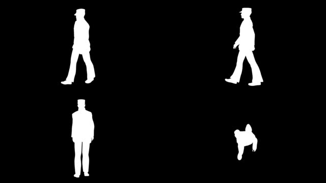 歩く兵士シルエット (単発) - 特殊効果点の映像素材/bロール