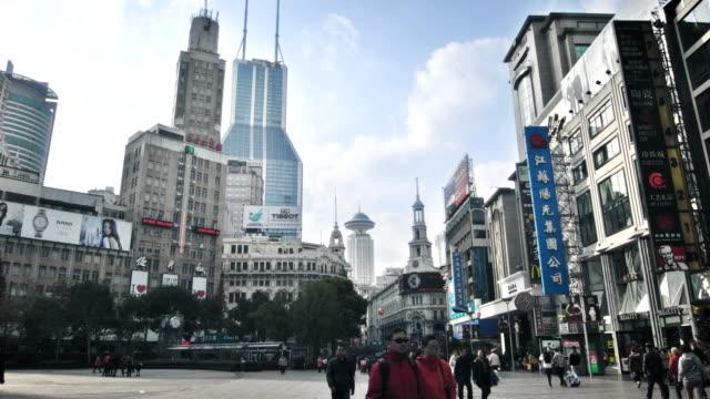 Wandelen straat in Shanghai