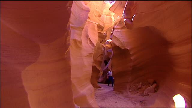 walking the canyon - slot canyon stock videos and b-roll footage