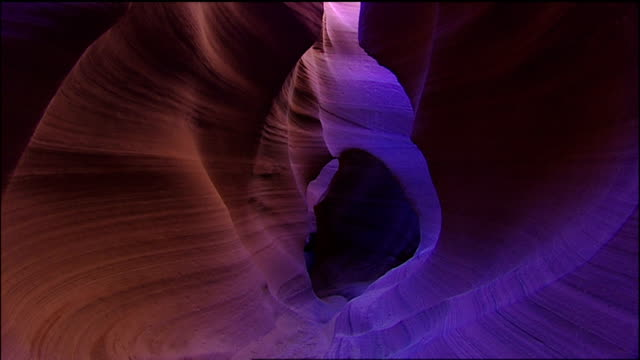 walking the tunnel canyon - slot canyon stock videos and b-roll footage
