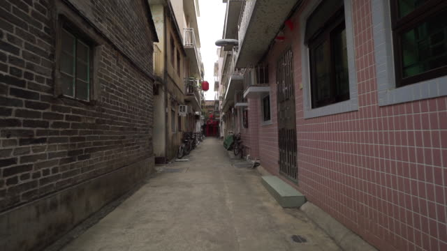 POV, walking through alleyways in Hong Kong