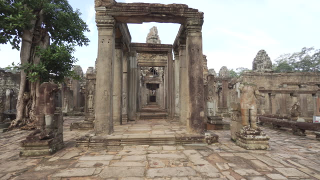 pov walking through ancient temple in cambodia - old ruin stock videos and b-roll footage