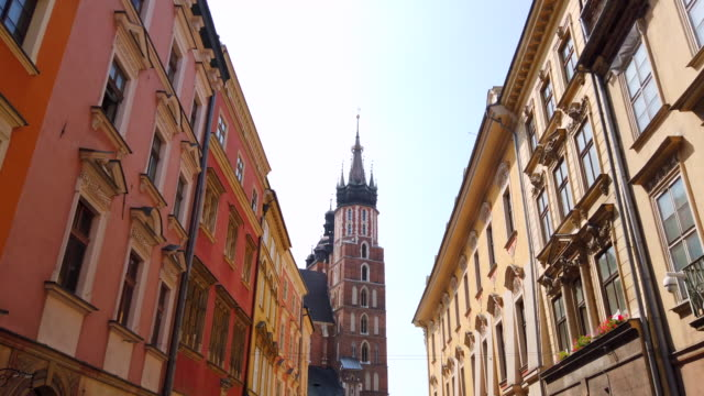 walking through krakow streets - gothic style stock videos & royalty-free footage