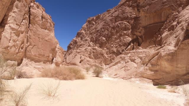 Walking through the White Canyon in Egypt