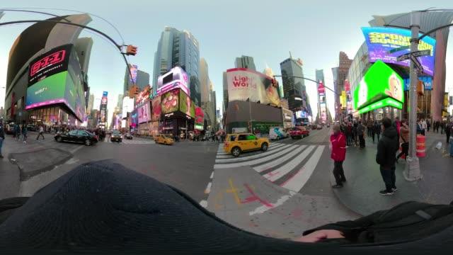 360 VR POV walking Times Square New York City