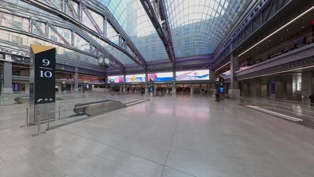 walking tour of moynihan train hall - new york - new york city penn station stock videos & royalty-free footage