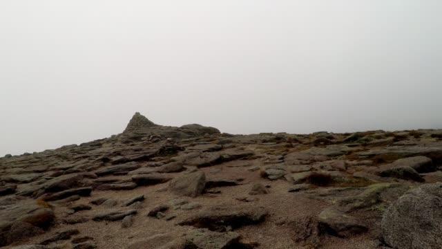 walking towards mountain peak, summit on cairn gorm mountain, scotland - shaking stock videos & royalty-free footage