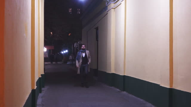 walking trough empty alley - alley stock videos & royalty-free footage