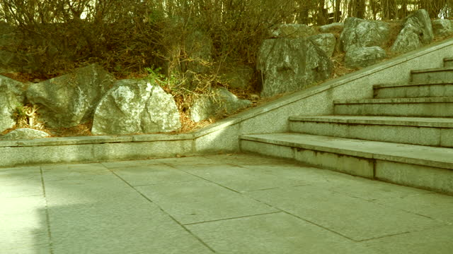 walking up stairs / south korea - cobblestone stock videos & royalty-free footage