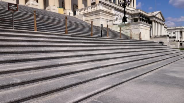 walking up to the u.s. capitol building and house of representatives in washington, dc - steps stock videos & royalty-free footage