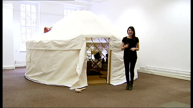 walking with the wounded expedition to climb everest halfway to base camp; tent called a yurt erected in room before being shipped out to mount... - base camp stock videos & royalty-free footage