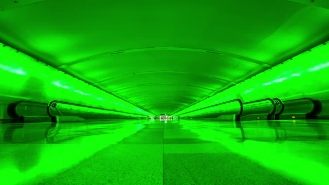 Walkway in the airport time lapse 4K