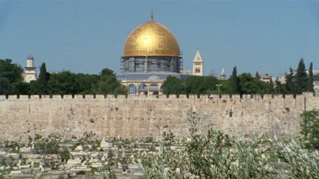 WS, Wall and Dome of the Rock, Jerusalem, Israel