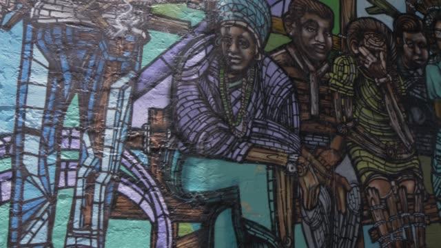 Wall art just off 8th Street in Little Havana, Little Havana, Miami, Florida, United States of America, North America