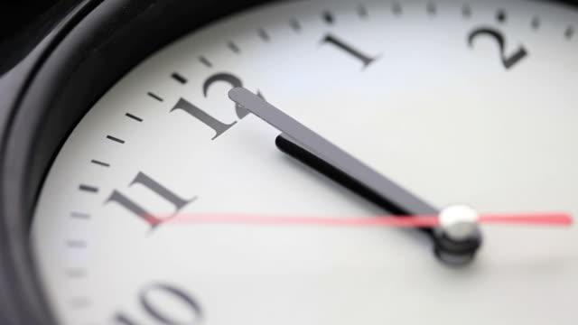 cu wall clock hands approaching midnight / shibuya, tokyo, japan - clock hand stock videos and b-roll footage