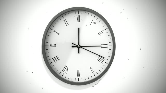 wall clock  timelapse, damage film effects - spinning stock videos & royalty-free footage