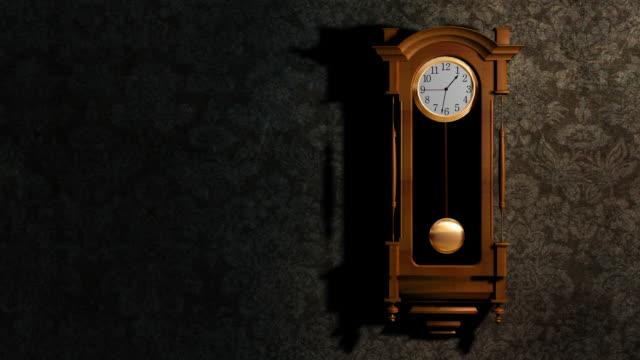 vídeos de stock e filmes b-roll de relógio de parede - relógio