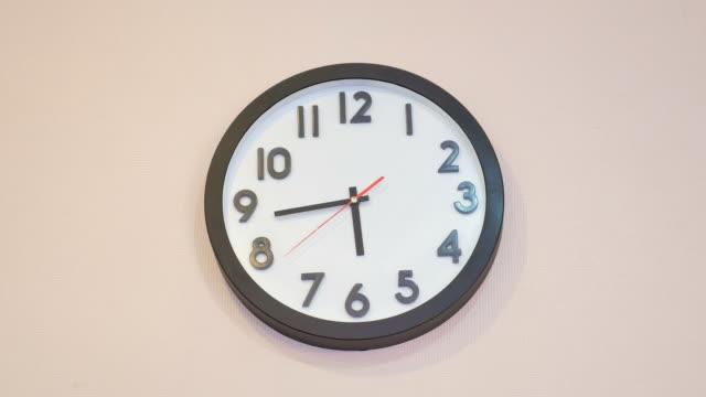 wall clock - clock stock videos & royalty-free footage