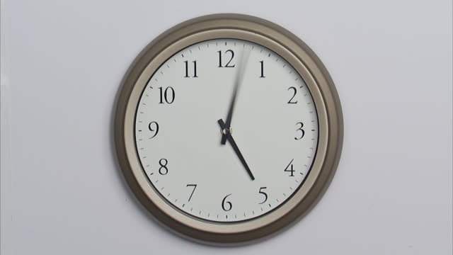 t/l, ms, wall clock - turning stock videos & royalty-free footage