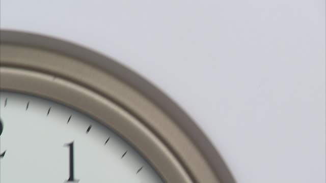 t/l, cu, td, wall clock - clock hand stock videos and b-roll footage