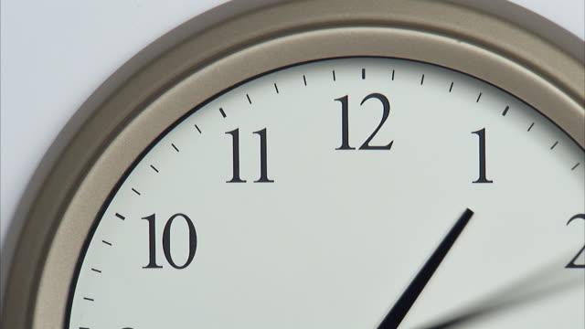 t/l, cu, wall clock - clock hand stock videos and b-roll footage
