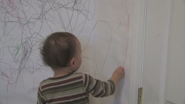 wall drawing 2 - multi-format progressive - painting activity stock videos & royalty-free footage