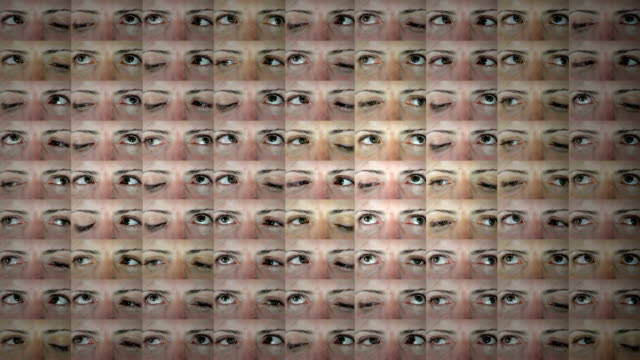 Wall of Eyes Searching. HD