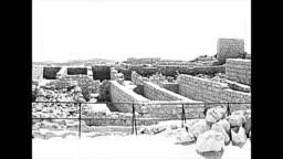 Wall of ncient fortification Masada 1970s