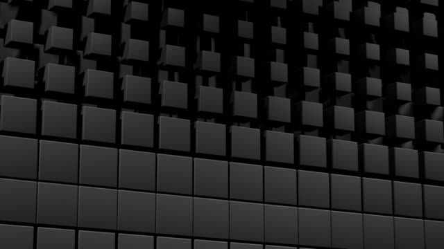 Wall of resizing cubes