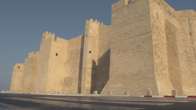 wall of the ribat of monastir - history stock videos & royalty-free footage