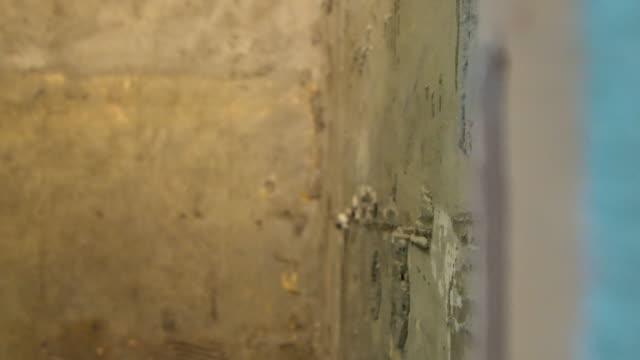 Renovierung der Wand
