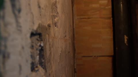 vidéos et rushes de mur de rénovation - délabré