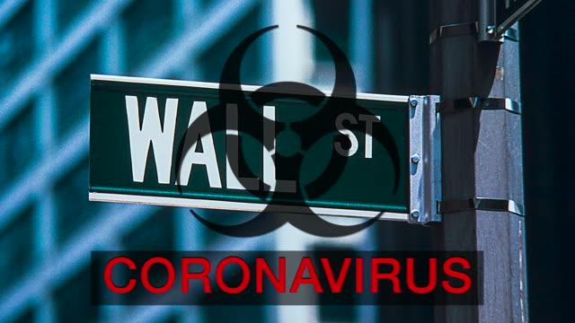 wall st coronavirus uncertainty - manhattan financial district stock videos & royalty-free footage