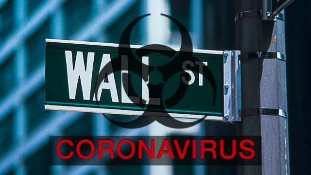 wall st coronavirus uncertainty - biohazard symbol stock videos & royalty-free footage