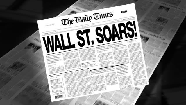 Wall St. Soars! - Newspaper Headline (Intro + Loops)