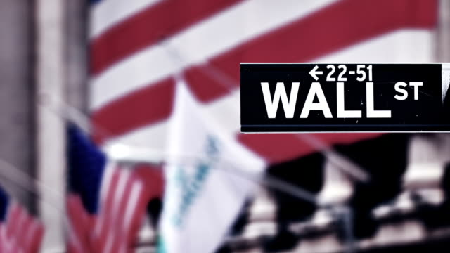 wall street sign, downtown manhattan, new york city - crisis stock videos & royalty-free footage
