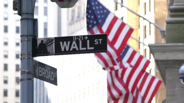 ウォールストリートの標識 - ナスダック点の映像素材/bロール